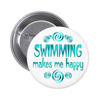La natation me rend heureux macaron rond 5 cm