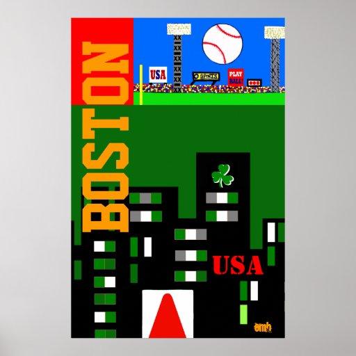 La nouvelle affiche 2013 d'art de Boston badine le