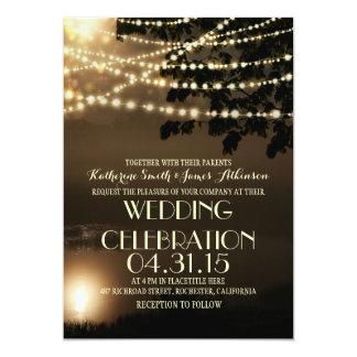 la nuit allume le faire-part de mariage inspiré carton d'invitation  12,7 cm x 17,78 cm