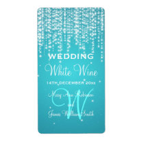 La nuit élégante d'étiquette de vin de mariage étiquette d'expédition