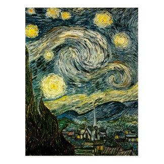 La nuit étoilée de Vincent van Gogh (1889) Carte Postale