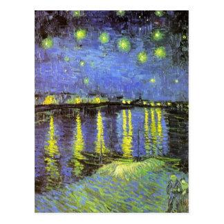 La nuit étoilée de Vincent van Gogh au-dessus du R Carte Postale