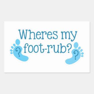 Là où est mon FOOTRUB Stickers En Rectangle