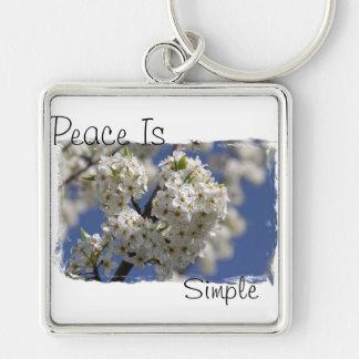 La paix est simple porte-clé