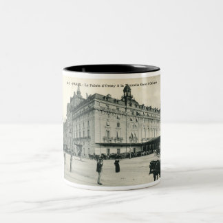 La Palais d'Orsay Paris 1908 Vintage Two-Tone Coffee Mug