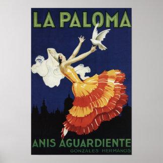 La Paloma - Anis Aguardiente Promotional Poster