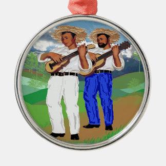 ¡La Parranda Navideña! Silver-Colored Round Ornament