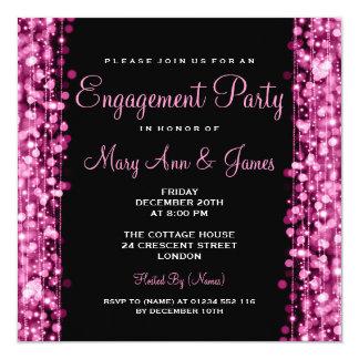 La partie de fiançailles de mariage miroite rose carton d'invitation  13,33 cm