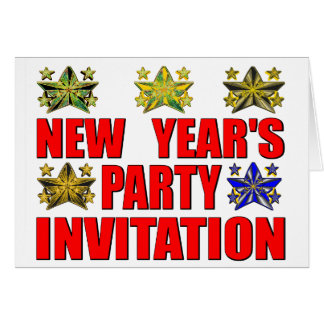 La partie de nouvelle année carte de vœux