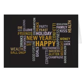 La partie de nouvelle année exprime l'invitation carte de vœux