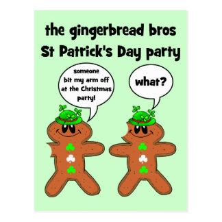 la partie du jour de St Patrick de bros de pain d' Cartes Postales