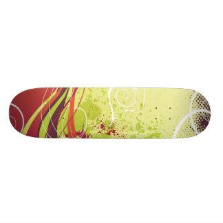 La partie ondule la planche à roulettes skateboards