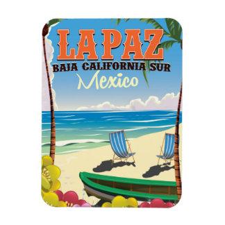 La Paz Baja California Sur Mexico travel poster Magnet