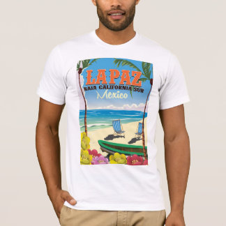 La Paz Baja California Sur Mexico travel poster T-Shirt