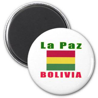 La Paz Bolivia capital designs 2 Inch Round Magnet