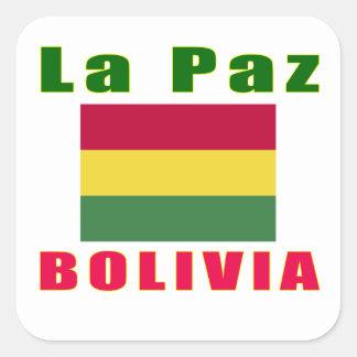 La Paz Bolivia capital designs Square Sticker
