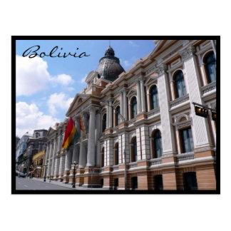 la paz bolivia postcard