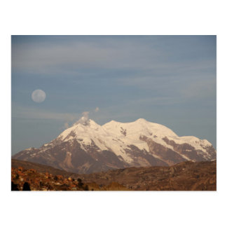 La Paz City, Bolivia Illimani Snow Mountain Postcard