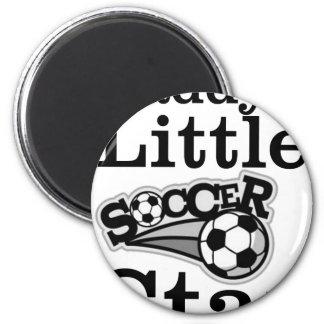 La petite étoile du football du papa magnet rond 8 cm