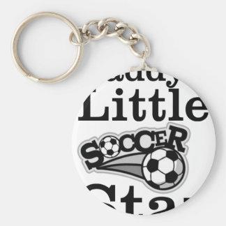 La petite étoile du football du papa porte-clé rond