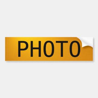 La photo autocollant de voiture