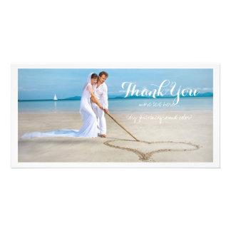 La photo de mariage de PixDezines vous remercient Photocarte