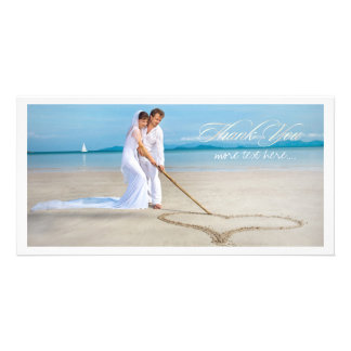 La photo de mariage de PixDezines vous remercient Photocarte Personnalisée