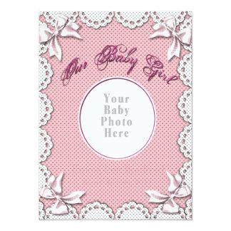 La photo de votre bébé de naissance de bébé carton d'invitation  13,97 cm x 19,05 cm