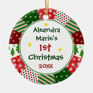 La photo et le ęr Noël de 2014 vos bébés Ornements De Noël