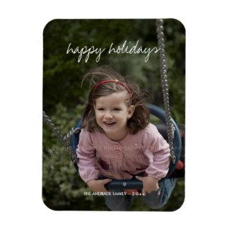 La photo personnalisée par vacances de Noël badine Magnet Rectangulaire Avec Photo