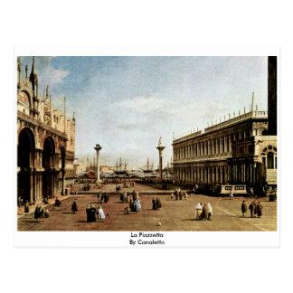 La Piazzetta By Canaletto Postcard