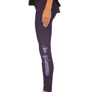 la pierna spanish leg lavender on purple Leggings