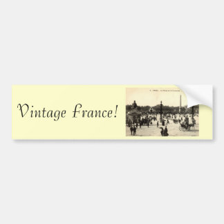 La Place Castellane, Marseille France 1910 Vintage Bumper Sticker