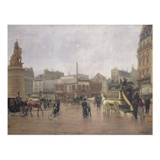 La Place Clichy, Paris, 1896 Postcard