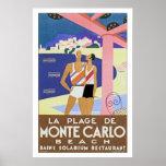 La Plage de Monte Carlo Print