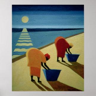 La plage flâne 1997 poster