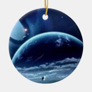 la planet terre ceramic ornament