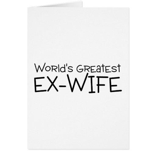 La plus grande épouse ex des mondes cartes de vœux
