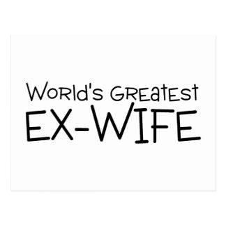 La plus grande épouse ex des mondes cartes postales
