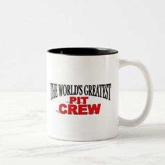 La plus grande équipe du stand de ravitaillement d tasse à café