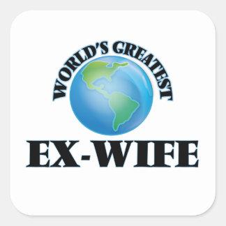 La plus grande ex-femme du monde sticker carré