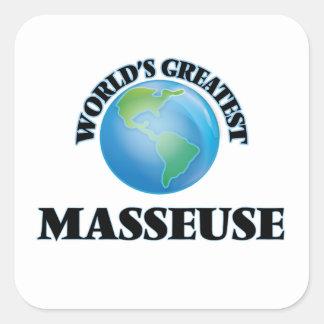 La plus grande masseuse du monde autocollant carré