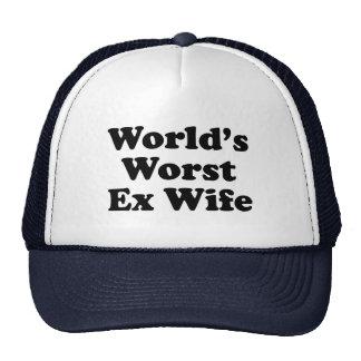 La plus mauvaise épouse ex du monde casquettes de camionneur