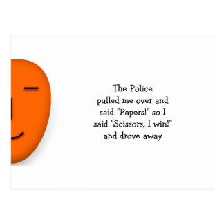 La police bascule les ciseaux de papier - envoyez