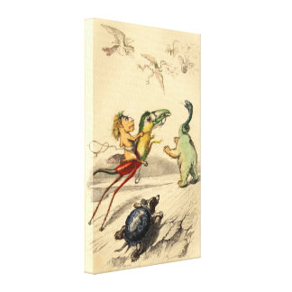 La Poursuite (The Chase) Canvas Print