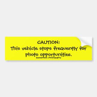 La précaution, fréquentent l'adhésif pour pare-cho autocollant de voiture