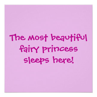 La princesse beautifulfairy dort ici posters