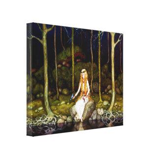 La princesse dans la forêt impressions sur toile