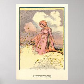 La princesse de rose parle avec les fleurs poster