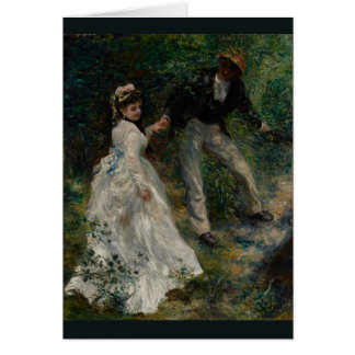 La Promenade by Pierre-Auguste Renoir 1870 Card